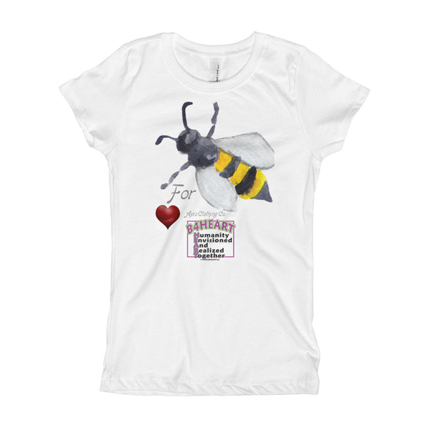 Girl's Bee 4 HEART LOGO T-Shirt