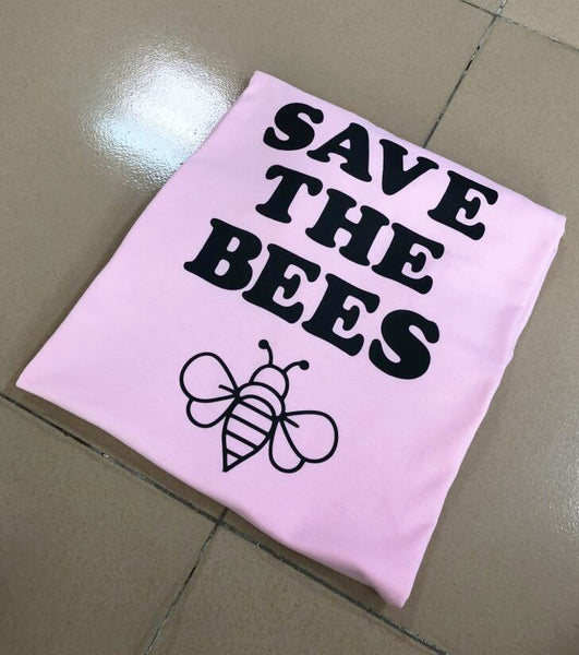 save the bees T-Shirt Bee Shirt Beekeeper Environment tops honey bee shirt Endangered Casual Graphic Girl tee bess clothing