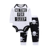 Newborn 2Pcs Bodysuit + Skull Print Pants