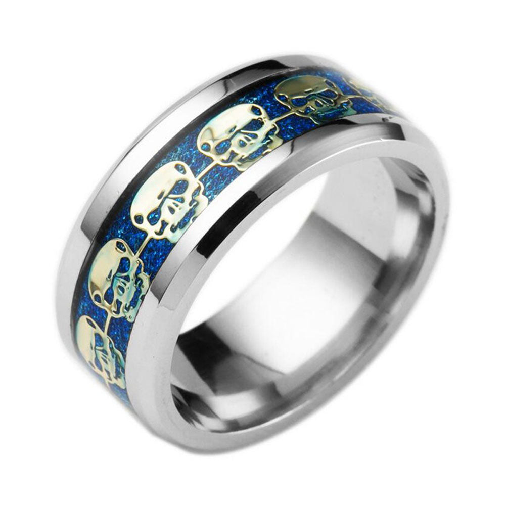 sandstone steel wedding blue christian stainless rings with