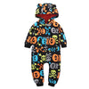 Skull Print Hooded Jumpsuit