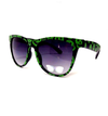 Black & Green Sugar Skull Sunglasses