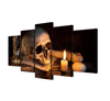 5 Piece Skull Canvas Art