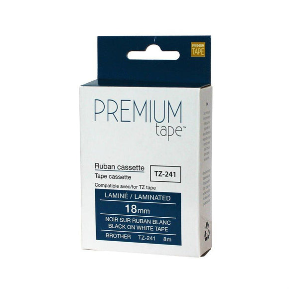 Brother TZ-241  NOIR/BLANC 18mm compatible