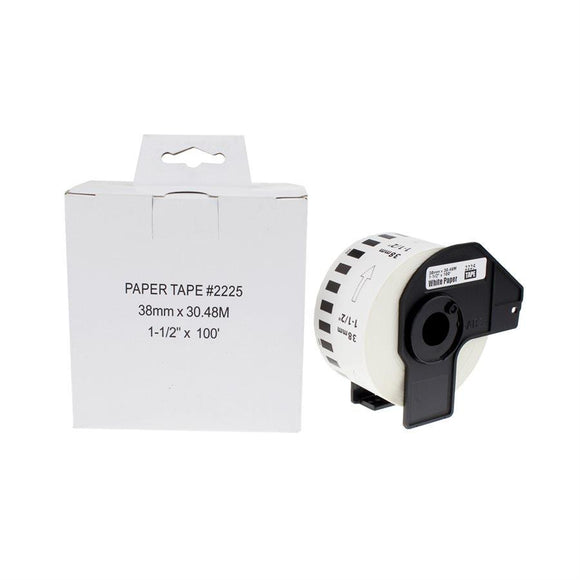 Brother DK-2225-Papier continu BLANC 38mm*30.48m compatible