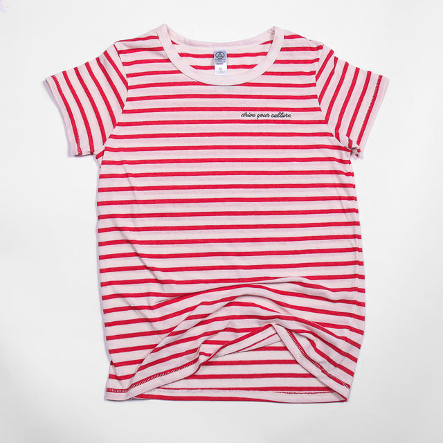 Ladies Striped Culture Tee