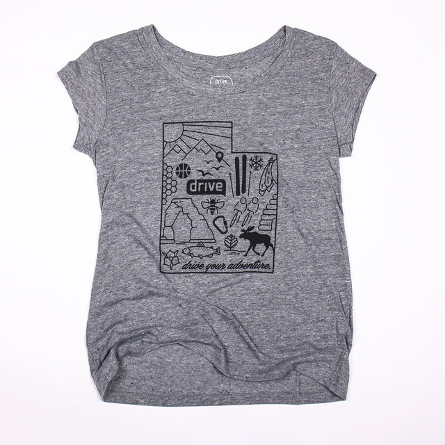 Ladies Map Tee