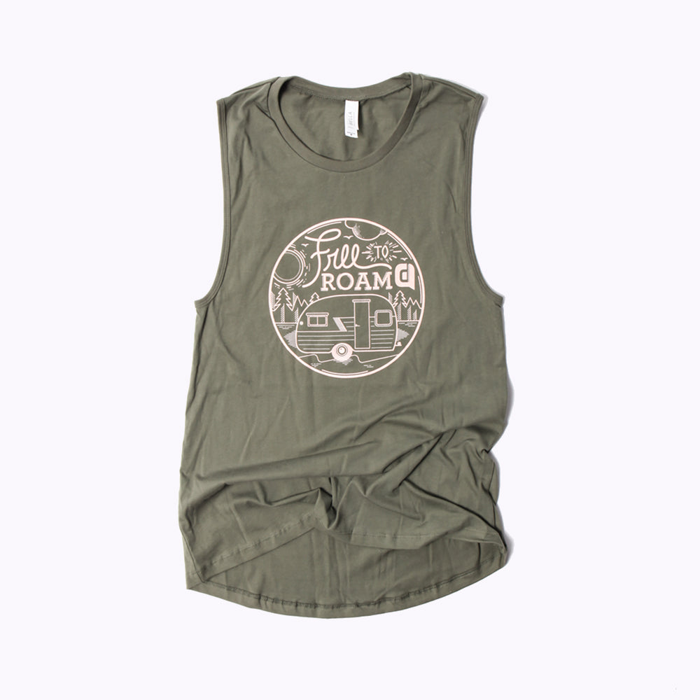 Free To Roam Women's Jersey Muscle Tank