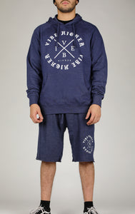 Vibe Higher Circle Hoodie/Short Set (Denim Blue)