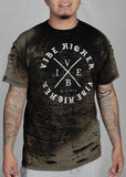 Vibe Higher Bleached Fashion Tee
