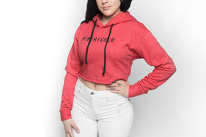 Vibe Higher Cropped Hoodie (RED)