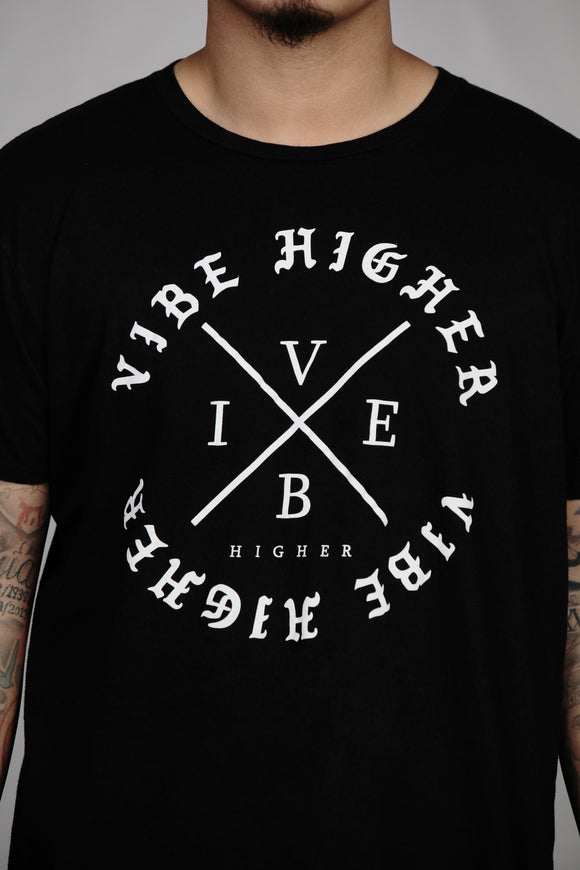 Vibe Higher Circle Tee (BLACK)
