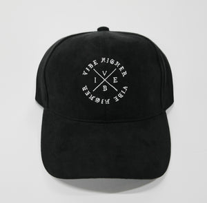 Vibe Higher Circle Cross Dad Hat (Black or White)