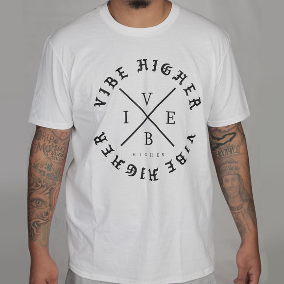 Vibe Higher Circle Tee (WHITE)