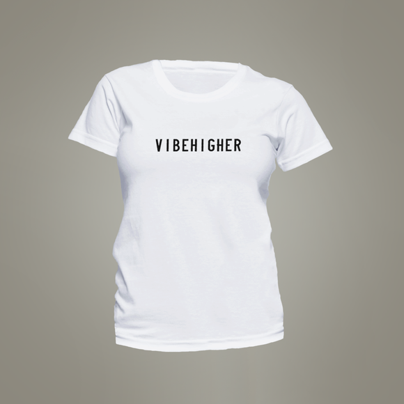Vibe Higher Women's Crew Neck Tee (WHITE)