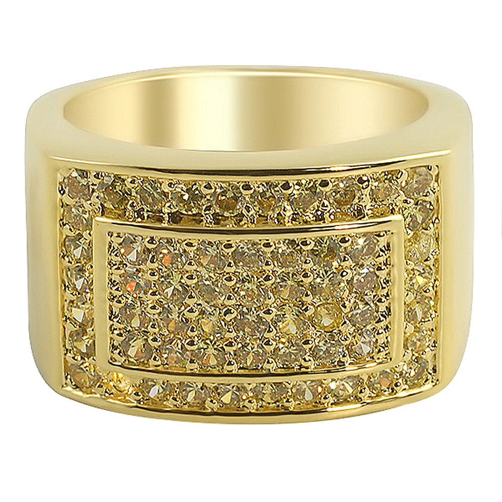 Baller Bling Rhodium CZ Quality Hip Hop Mens Ring Iced Out Shiny