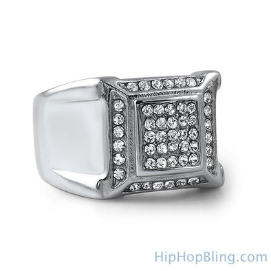 Swag Bling Bling Stainless Steel Ring