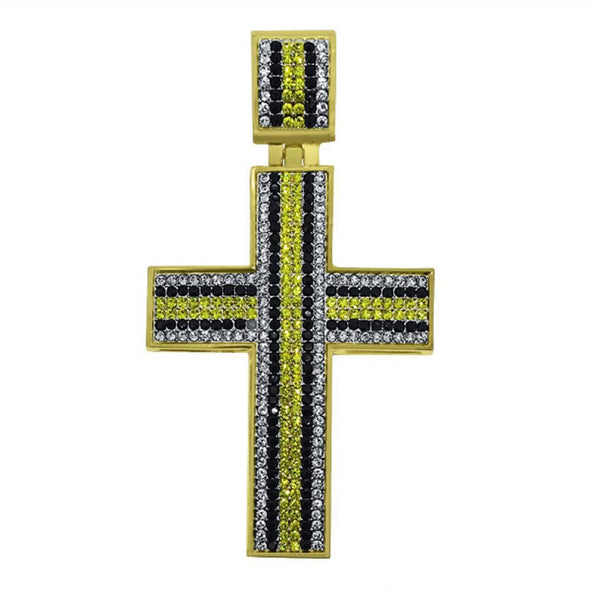 Gold Canary Black White Striped Down Ice Cross
