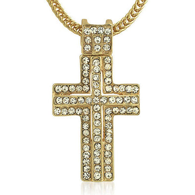 Gold Hip Hop Cross  Chain Small