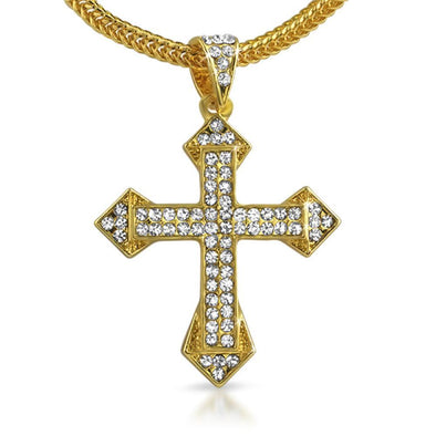 Sharp Cross Gold  Chain Small