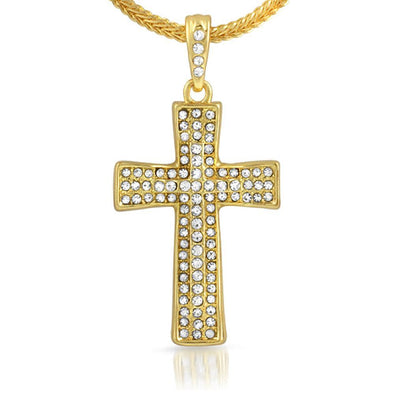 Cross Gold Small Pendant  Chain