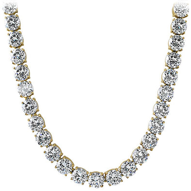 10MM Massive CZ Stainless Steel Gold Bling Bling Tennis Chain