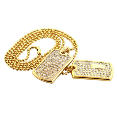 Gold Double Dog Tag Set