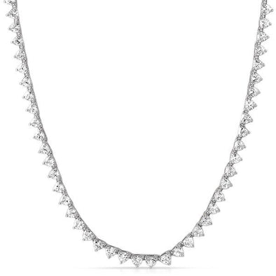 Trillion 4MM 1 Row CZ Rhodium Tennis Chain