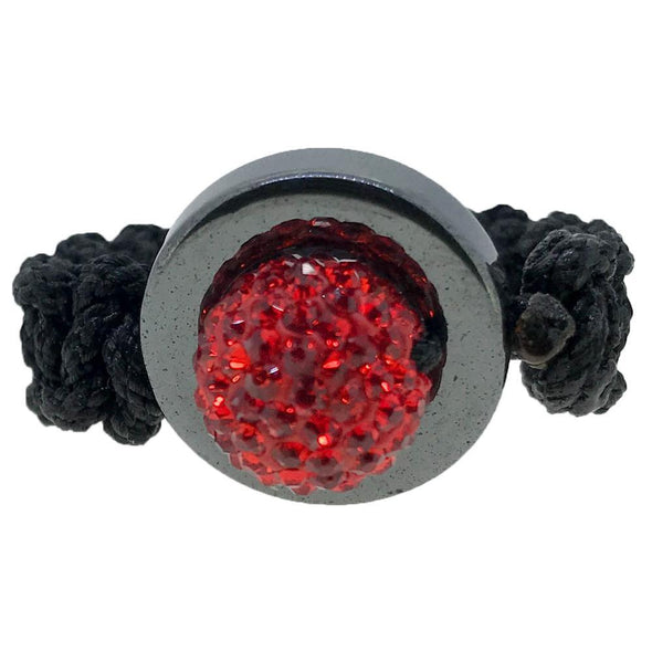 Red Disco Ball Ring