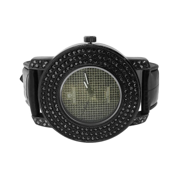 All Black Triple Bezel Watch