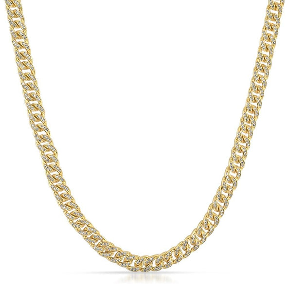 6MM Miami Cuban CZ Gold Hip Hop Chain