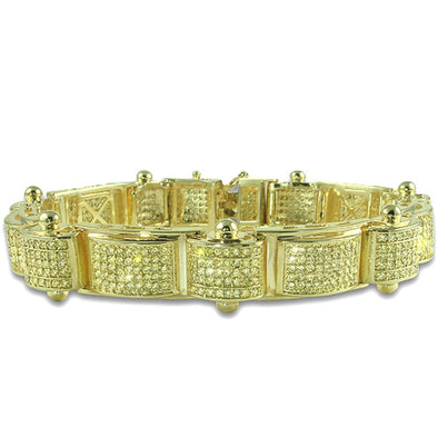 SALE Lemonade Canary CZ Micro Pave Gold Iced Out Bracelet