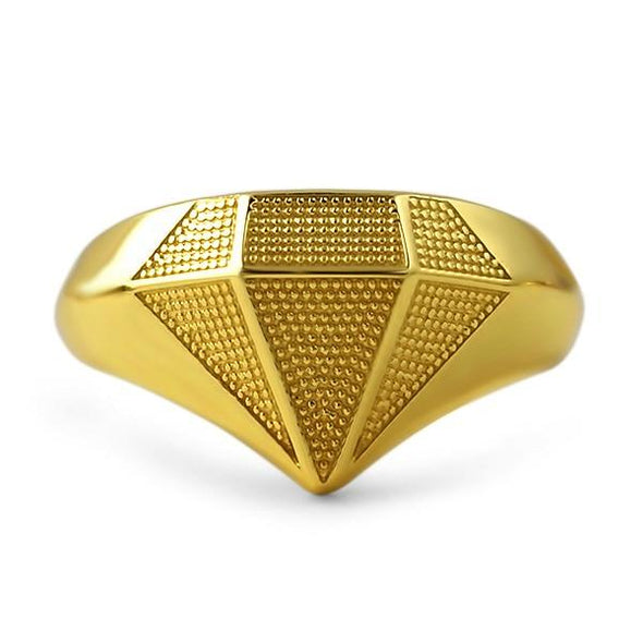 Gold Diamond Shaped .925 Sterling Silver Custom Ring