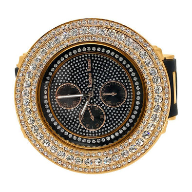 60MM Bezel Rose Gold Hip Hop Watch