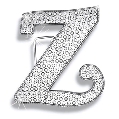Z Initial Jumbo Belt Buckle Rhodium