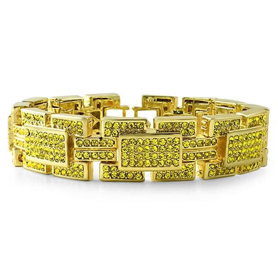 Lemonade Gold Crazy Ballers Iced out Bracelet