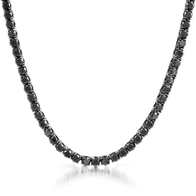 Black 4MM CZ 1 Row Tennis Chain Bling