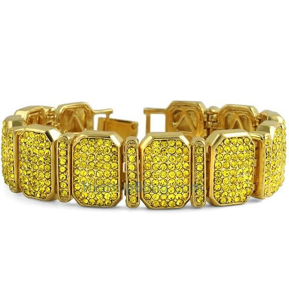 Octagon Lemonade Bling Bling Bracelet