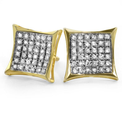 .25ct Diamond Micro Pave Kite Earrings Gold Vermeil