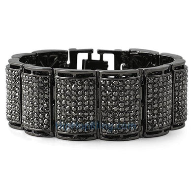 Thick Ice Log Black Bling Bling Bracelet