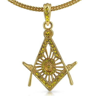 Free Mason Masonic Lemonade Pendant  Chain Small