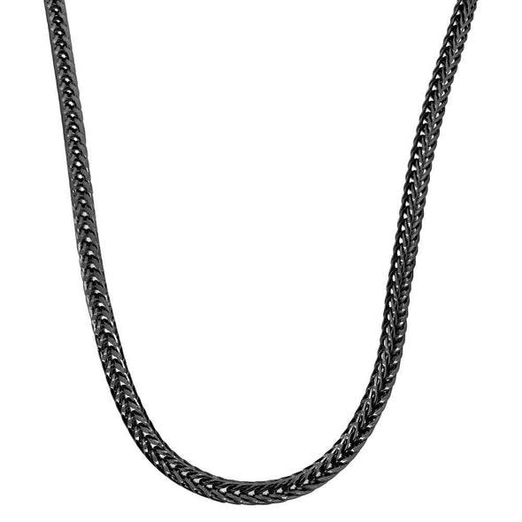 Foxtail Franco Black Chain 3MM Necklace