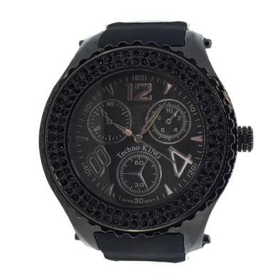 Double Black Bezel Rubber Watch