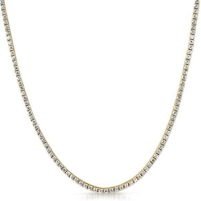 2MM 1 Row CZ Gold Tennis Chain