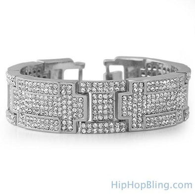 Bling Bling Bracelet Rhodium Blocks of Ice