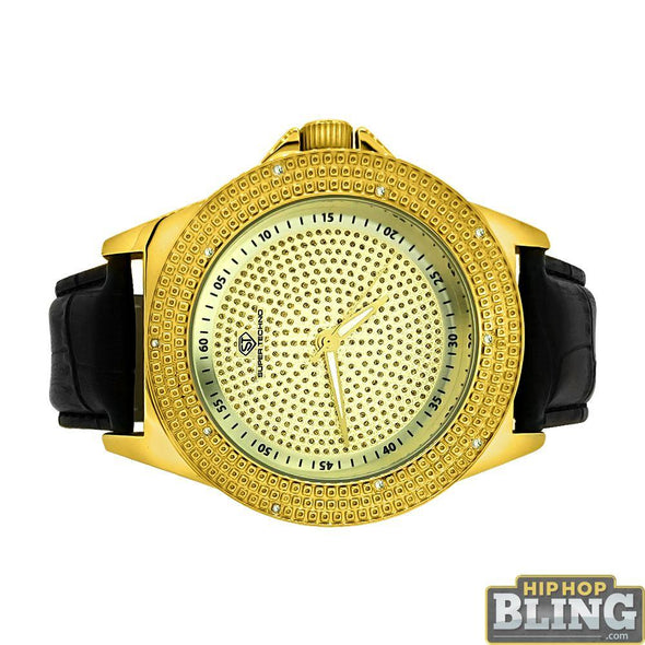 Bling Diamond Watch Super Techno Leather Band