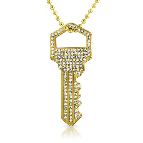 House Key Gold Pendant #2