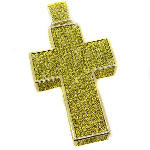 Lemonade 3D Mega Iced Out Cross