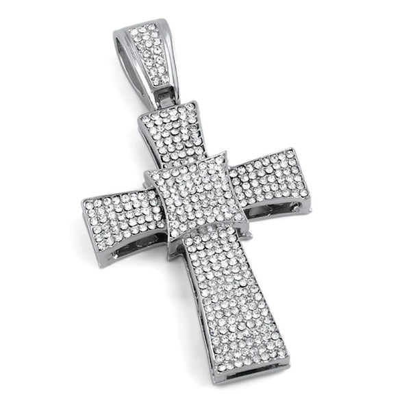 Kite Cross Pendant Rhodium
