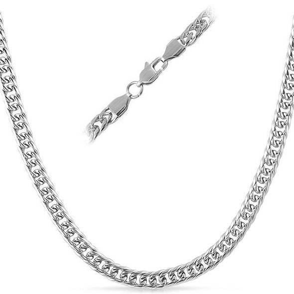 Double Cuban Stainless Steel Chain Necklace 6MM